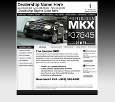 Lincoln Automotive Web Design by xstortionist