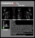 LeadBarrage Reference Sheet [Commission] by StarlightRaven14