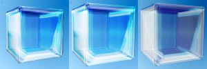 Glass Cube by 0-ASH-0