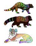 Colorful Adoptables: CLOSED by Metals-Adopts