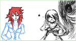 iScribble-Colab with the lovely Tsukasa-girl by AmunetRa