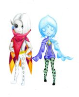 Ghirahim and Fi Chibi by DragonprincessTessa