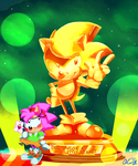 Sonic CD Gold by ArtisyOne