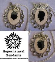 Two Brothers and an Angel: Supernatural Pendants by DefenderOfMen
