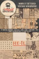 Vintage Newspaper Textures by Whimsical-Adventure