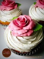 Pink Rose Faux Cupcake by CreativeAbubot