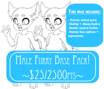 P2U Male Anthro Base pack! $25/2500pts by rap1993