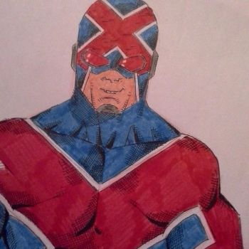 Captain Britain redesign.... by GiorgosKollias