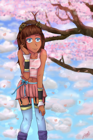 Innocence and Cherry Blossoms by purplemusic-B-ox