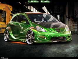 Opel Corsa Green Hulk by Stan88