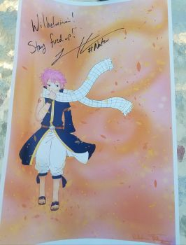Natsu Poster Autographed by FluffyCamellia