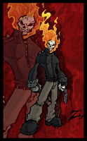 Ghost Rider Color by ShadowMaginis