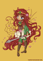 Rose Princess Red Lines by pink-marshmallows