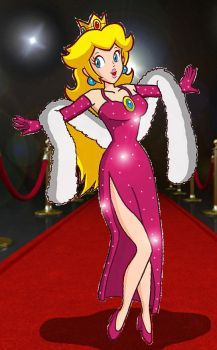Princess Peach on the Red Carpet by Homey104