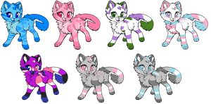 Gender Pride Adopts [1 LEFT MALE KITTY / LOWERED] by PurryProductions-Inc