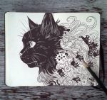 #80 Familiar Black Cat by 365-DaysOfDoodles