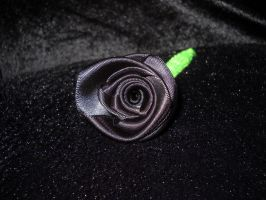 Black ribbon rose by toxiclysweet