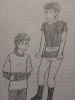 Romulus and Vulcan- Preteen by Inamkur