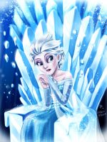 Sad Elsa by iassu