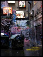Graffiti in the Alley by Almond-Tea