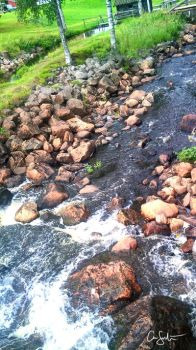 Rocks and water by kamly