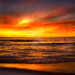 Burning Ocean Sunset by EdPettitt