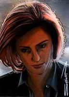 Scully Sketch Card by RandySiplon