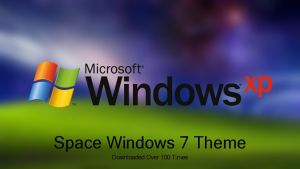 Windows XP Plus! Space Theme For Windows 7 by nc3studios08