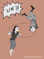 Tenzin And Lin As Kids by Bonez1925