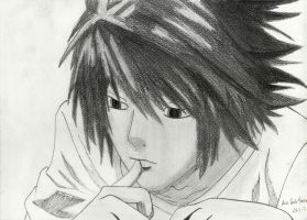 Death note drawing - L by mangaslover