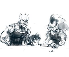 """""""Time for your Saiyan Lessons"""" by fazkataz"""