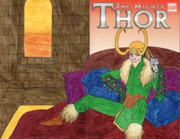 The Mighty Thor Blank Cover Art by cardinalbiggles