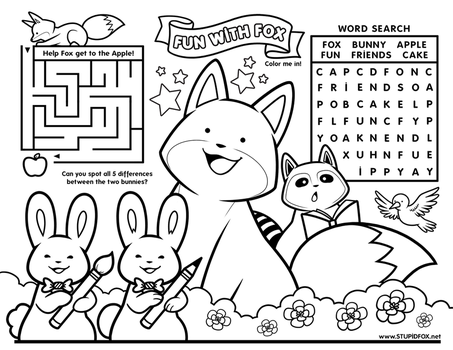 Fun with StupidFox - Placemat by SilentReaper