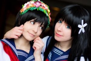 Saten and Uiharu by DariaAmbrosia