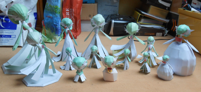 Gardevoir Papercrafts Family Picture by gardevoir7
