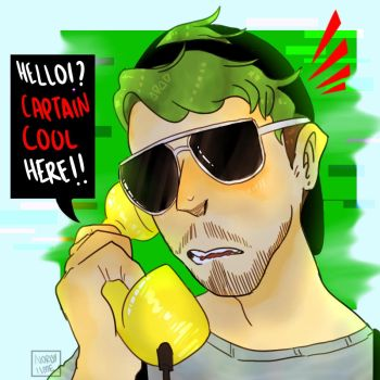 CAPTAIN COOL HERE!!! - Jacksepticeye by NeLite-Art