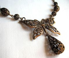 Filigree Butterfly Necklace by Aranwen