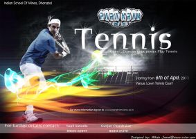 A tennis event poster... by jamalaftab