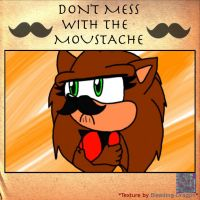 Don't mess with le moustashe X3 by EmilyTheHedgehog1000