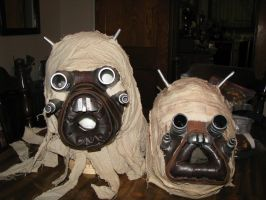 Old vs NEW Tusken mask by tk8247