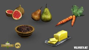 The Sims Medieval - Food 1 by DeadXIII