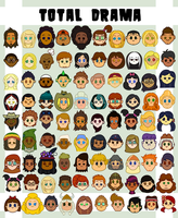 Total Drama Character Icons by ShadowRewinds