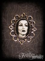 Vampira Brooch by FrillsandMorbidity