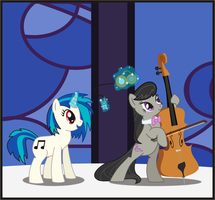 Octavia and Vinyl Scratch by Goofycabal