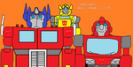Optimus prime ironhide and bumblebee by Sayyidatina