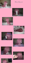 Marluxia wig tutorial by YachiruFoxTailFairy