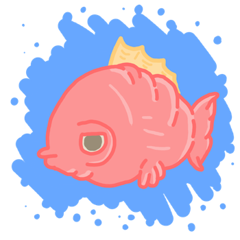 Samy the Salmon by SpaceWaffleDelivery