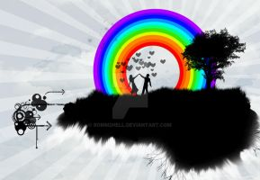 love for rainbow by bomm2hell