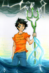 The Son of Poseidon by FlameoZutara