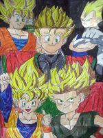 super saiyan family by AniRudh-venom